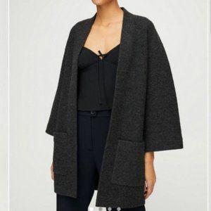 Aritzia Wilfred Brullon Sweater Coat Black Grey S